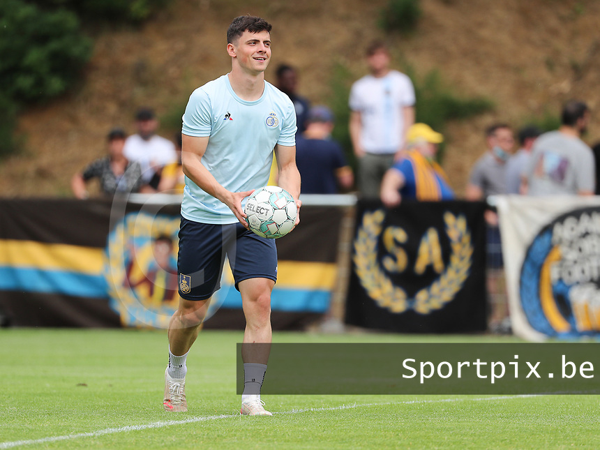 Dante Vanzeir (25) of Union with the ball before I a preseason friendly soccer game between Tempo Overijse and Royale Union Saint-Gilloise, Saturday 29th of June 2021 in Overijse, Belgium. Photo: SPORTPIX.BE | SEVIL OKTEM