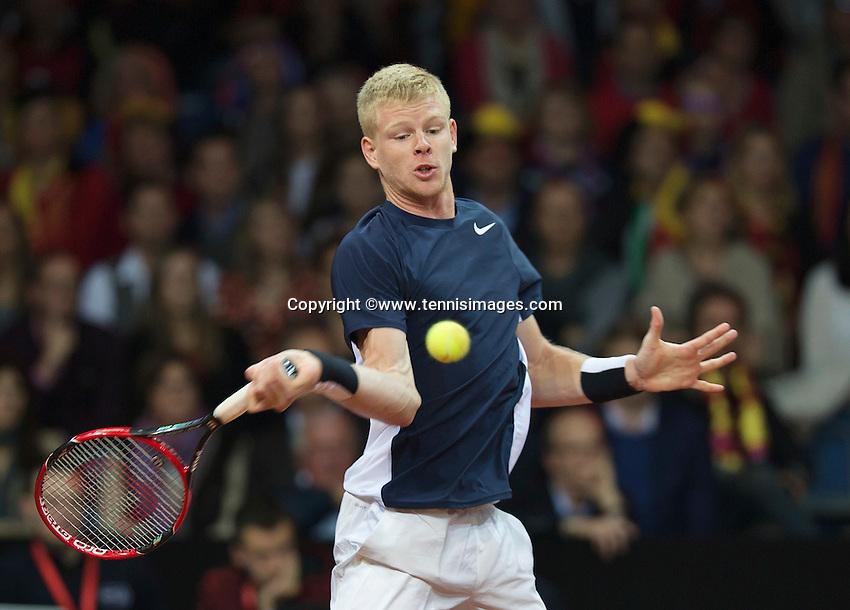 Gent, Belgium, November 27, 2015, Davis Cup Final, Belgium-Great Britain, First match,Kyle Edmund (GRB)<br /> Photo: Tennisimages/Henk Koster