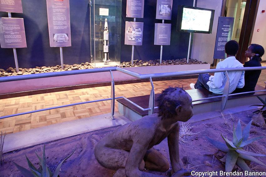 The Hominids dispaly room at the Nairobi National Museum in Kenya.