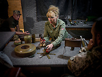 Natalia Voronkova (44), a volunteer who offers support and basic first aid training for Ukrainian government forces fighting Russian-backed separatists in the east of the country, learns about the various types of landmine used by the separatists and their Russian backers, how to spot them in the field, and how they damage the body (so that she can later inform soldiers how to better treat the wounds). Recently, a new type of mine is being used against Ukrainian forces which they are very concerned about. It is being dropped from the air, sometimes by drones, and Natalia Voronkova wants to know all the details so that she can spread the information and warn the soldiers.<br /><br />While Natalia works on the frontlines she uses the opportunity to get a unfiltered sense of the reality and challenges the soldiers face on the ground; impressions she uses as a special advisor to the Ministry of Defence.