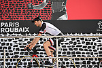 Maximilian Walscheid (GER) Team Sunweb at sign on in Compiegne before the start of the 116th edition of Paris-Roubaix 2018. 8th April 2018.<br /> Picture: ASO/Pauline Ballet | Cyclefile<br /> <br /> <br /> All photos usage must carry mandatory copyright credit (© Cyclefile | ASO/Pauline Ballet)