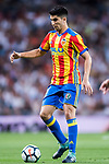 Carlos Soler Barragan of Valencia CF in action during their La Liga 2017-18 match between Real Madrid and Valencia CF at the Estadio Santiago Bernabeu on 27 August 2017 in Madrid, Spain. Photo by Diego Gonzalez / Power Sport Images