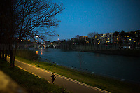 Outdoor activities allowed in proximity of home.<br /> <br /> Rome, 12/03/20. Rome's Olympic Village district under the Italian Government lockdown for the Outbreak of the Coronavirus SARS-CoV-2 - COVID-19. On 22 March, the Italian PM Giuseppe Conte signed a new Decree Law which suspends non-essential industry productions and contains the list of allowed working activities, which includes Pharmaceutical & food Industry, oil & gas extraction, clothes & fabric, tobacco, transports, postal & banking services (timetables & number of agencies reduced), delivery, security, hotels, communication & info services, architecture & engineer, IT manufacturers & shops, call centers, domestic personnel (1.).<br /> Updates: Italy: 22.03.20, 6:00PM: 46.638 positive cases; 7.024 recovered; 5.476 died.<br /> <br /> The Rome's Olympic Village (1957-1960) was designed by: V. Cafiero, A. Libera, A. Luccichenti, V. Monaco, L. Moretti. «Built to host the approximately 8,000 athletes involved in the 1960 Olympic Games, Rome's Olympic Village is a residential complex located between Via Flaminia, the slopes of Villa Glori and Monti Parioli. It was converted into public housing [6500 inhabitants, ndr] at the end of the sporting event. The intervention is an example of organic settlement, characterized by a strong formal homogeneity, consistent with the Modern Movement's principles of urbanism. The different architectural structures are made uniform by the use of some common elements: the pilotis, ribbon windows, concrete stringcourses, and yellow brick curtain covering. At the center of the neighborhood, the Corso Francia viaduct - a road bridge about one kilometer long - was built by P.L. Nervi[…]» (2.).<br /> <br /> Info COVID-19 in Italy: http://bit.do/fzRVu (ITA) - http://bit.do/fzRV5 (ENG)<br /> 1. March 22nd Decree Law http://bit.do/fFwJn (ITA)<br /> 2. (Atlantearchitetture.beniculturali.it MiBACT, ITA - ENG) http://bit.do/fFw3H<br /> 12.03.20 Rome's Lockdown for the Outbreak of the Cor