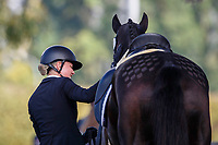 AUT-Lea Siegl rides Van Helsing P during the Dressage. 2021 SUI-FEI European Eventing Championships - Avenches. Switzerland. Friday 24 September 2021. Copyright Photo: Libby Law Photography