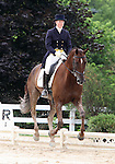 10 July 2009: Allison Springer riding Arthur during the dressage phase of the CIC 2* Maui Jim Horse Trials at Lamplight Equestrian Center in Wayne, Illinois.