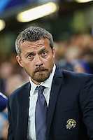 Slavisa Jokanovic (Coach) of Maccabi Tel-Aviv during the UEFA Champions League match between Chelsea and Maccabi Tel Aviv at Stamford Bridge, London, England on 16 September 2015. Photo by David Horn.