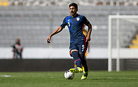 GUADALAJARA, MEXICO - MARCH 18: Mauricio Pineda #5 of the United States moves forward with the ball during a game between Costa Rica and USMNT U-23 at Estadio Jalisco on March 18, 2021 in Guadalajara, Mexico.