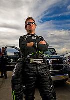 Oct. 31, 2008; Las Vegas, NV, USA: NHRA funny car driver Tommy Johnson Jr during qualifying for the Las Vegas Nationals at The Strip in Las Vegas. Mandatory Credit: Mark J. Rebilas-