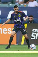 CARSON, CA - JUNE 19: Alex Roldan #16 of the Seattle Sounders FC moves to the ball during a game between Seattle Sounders FC and Los Angeles Galaxy at Dignity Health Sports Park on June 19, 2021 in Carson, California.