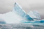 Iceberg floating in Hercules Bay off the coast of South Georgia.