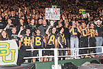 Baylor fans dressed in black watch the game between the Oklahoma Sooners and the Baylor Bears at the Floyd Casey Stadium in Waco, Texas. Baylor defeats OU 41 to 12.