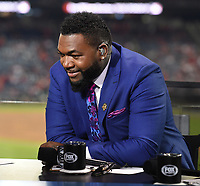 WASHINGTON DC - OCTOBER 25: David Ortiz at World Series Game 3: Houston Astros at Washington Nationals on Fox Sports at Nationals Park on October 25, 2019 in Washington, DC. (Photo by Frank Micelotta/Fox Sports/PictureGroup)