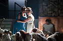 London, UK. 30.04.2014. English National Opera gives the world premiere of British composer Julian Anderson's first opera, THEBANS. Picture shows: Susan Bickley (Jocasta) and Julia Sporsen (Antigone). Photograph © Jane Hobson.
