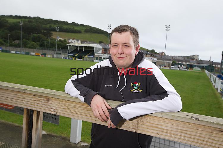 McDonalds Community Football Awards 2013.<br /> Anuerin Venables Aberystwyth Football Club.<br /> 04.07.13<br /> ©Steve Pope-SPORTINGWALES