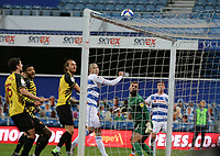 Lee Wallace of Queens Park Rangers header clips the crossbar during Queens Park Rangers vs Watford, Sky Bet EFL Championship Football at The Kiyan Prince Foundation Stadium on 21st November 2020