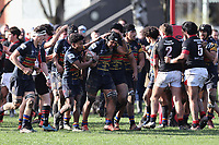 Action from the Miles Toyota Championship 1st XV School Boy Rugby, match between St Bede's and St Thomas at St Bede's College in Christchurch, New Zealand on Saturday,7 August 2021. Photo: Martin Hunter / lintottphoto.co.nz