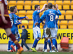 St Johnstone v Motherwell…20.02.16   SPFL   McDiarmid Park, Perth<br />David Wotherspoon celebrates his goal<br />Picture by Graeme Hart.<br />Copyright Perthshire Picture Agency<br />Tel: 01738 623350  Mobile: 07990 594431