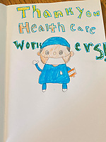 Thank you health care workers. Annaliese Siegl-Flahive - Grade 5, Yarmouth Maine,