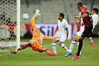 9th June 2021; Arena da Baixada, Curitiba, Brazil; Copa do Brazil, Athletico Paranaense versus Avai; Vitinho of Athletico Paranaense shoots and scores his goal in the 1st minute 1-0