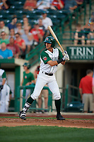 Fort Wayne TinCaps Justin Lopez (14) during a Midwest League game against the Peoria Chiefs on July 17, 2019 at Parkview Field in Fort Wayne, Indiana.  Fort Wayne defeated Peoria 6-2.  (Mike Janes/Four Seam Images)