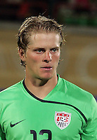 The United States' Brian Perk (13) stands on the field before the match against South Korea during the FIFA Under 20 World Cup Group C match between the United States and South Korea at the Mubarak Stadium on October 02, 2009 in Suez, Egypt.