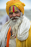 Indian man in Allahabad during Kumbh Mela Festival.