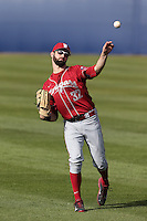 Yale Rosen #32 of the Washington State Cougars during a game against the Cal State Fullerton Titans at Goodwin Field on  February 15, 2014 in Fullerton, California. Washington State defeated Fullerton, 9-7. (Larry Goren/Four Seam Images)