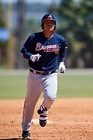 Atlanta Braves Anthony Concepcion (48) during a Minor League Spring Training game against the Detroit Tigers on March 22, 2018 at the TigerTown Complex in Lakeland, Florida.  (Mike Janes/Four Seam Images)