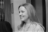 L'actrice francaise Jeanne Moreau<br /> en visite a Montreal, le 7 mars 1973.<br /> <br /> Photo : Agence Quebec Presse - Alain Renaud