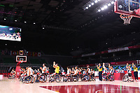 26th August 2021; Tokyo, Japan; Colombia team group (COL),<br />  Wheelchair Basketball : Men's Preliminary Round Group A match <br /> between Colombia - Japan<br /> during the Tokyo 2020 Paralympic Games at the Musashino Forest Sport Plaza in Tokyo, Japan.