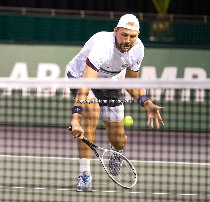 Rotterdam, The Netherlands, 2 march  2021, ABNAMRO World Tennis Tournament, Ahoy, First round doubles: Lukasz Kubot (POL).<br /> Photo: www.tennisimages.com/