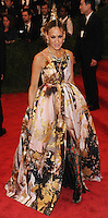 """NEW YORK, NY - MAY 06: Sarah Jessica Parker arrives at the """"PUNK: Chaos To Couture"""" Costume Institute Gala held at the Metropolitan Museum of Art on May 6, 2013 in New York City. (Photo by Celebrity Monitor)"""