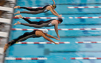 Start of the men's 50 free at the Fina World Masters Championships, in Stanford, Calif., Monday, August 7, 2006.