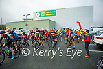 Hitting the road for the fundraising cycle for the Samartians and Kerry Hospice at John Mitchels on Saturday
