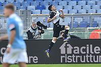 Ignacio Pusetto of Udinese celebrates after scoring the goal 2-0 during the Serie A football match between SS Lazio  and Udinese at Olimpico Stadium in Roma (Italy), November 29th, 2020. Photo Antonietta Baldassarre / Insidefoto