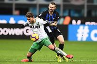 Marcelo Brozovic-Manuel Locatelli<br /> Milano 19-1-2019 Giuseppe Meazza stadium Football Serie A 2018/2019 Inter - Sassuolo <br /> Foto Image Sport / Insidefoto