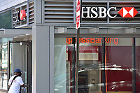 NEW YORK, NEW YORK - JUNE 17: Scene of a HSBC branch on Wednesday, June 17, 2020. According to Reuters news agency, HSBC, the biggest bank in Europe plans to eliminate 35,000 jobs worldwide, as it continues to struggle with the impact of the coronavirus. The value of HSBC stock has fallen by over 25% since the onset of the pandemic.  (Photo by Joana Toro / VIEWpress)