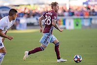 SAN JOSÉ CA - JULY 27: Sam Nicholson #28 during a Major League Soccer (MLS) match between the San Jose Earthquakes and the Colorado Rapids on July 27, 2019 at Avaya Stadium in San José, California.