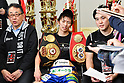 Boxing : WBA and IBF light flyweight titles unification bout : Ryoichi Taguchi vs Milan Melindo