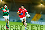 Caolim Teahan, Mid Kerry in action against Mike Foley, East Kerry during the Kerry County Senior Football Championship Final match between East Kerry and Mid Kerry at Austin Stack Park in Tralee on Saturday night.