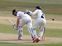 Ben Brown of Sussex glances one off his legs during Kent CCC vs Sussex CCC, Bob Willis Trophy Cricket at The Spitfire Ground on 8th August 2020