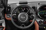 Car pictures of steering wheel view of a 2021 MINI Countryman SE-PHEV 5 Door SUV Steering Wheel