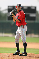 March 23rd 2008:  Cory Gearrin of the Atlanta Braves minor league system during Spring Training at Disney's Wide World of Sports in Orlando, FL.  Photo by:  Mike Janes/Four Seam Images