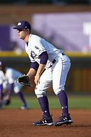 Winston-Salem Dash first baseman Gavin Sheets (24) on defense against the Salem Red Sox at BB&T Ballpark on April 21, 2018 in Winston-Salem, North Carolina.  The Dash walked-off the Red Sox 4-3.  (Brian Westerholt/Four Seam Images)