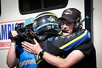 Race winner Derek Tohill, Ford Fiesta MkVII, BRX Supercars is congratulated during the 5 Nations BRX Championship at Lydden Hill Race Circuit on 31st May 2021