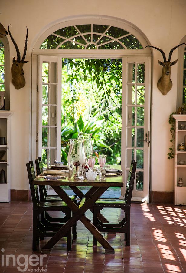 The dining room at Finca Vigia (Hemingway's House) at San Francisco de Paula, Havana