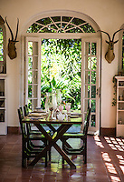 The dining room at Finca Vigia (Hemingway's House) at San Francisco de Paula, Havana