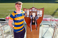 Monday 27th January 2020 | Ulster Schools' Cup Draw<br /> <br /> Bangor Grammar School captain Conor Lusty at the draw for the Ulster Schools' Cup Quarter Finals held at Kingspan Stadium, Ravenhill Park, Belfast, Northern Ireland. Fixtures to be played on or before 8 Feb 2020.  Photo credit - John Dickson DICKSONDIGITAL