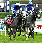 July 17, 2021: Althiqa #8, ridden by jockey Manny Franco wins the Diana Stakes (Grade 1) for fillies and mares four years and upward at Saratoga Race Course in Saratoga Springs, New York on July 17, 2021. Dan Heary/Eclipse Sportswire/CSM