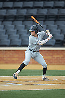 Ruben Fontes (13) of the Davidson Wildcats at bat against the Wake Forest Demon Deacons at David F. Couch Ballpark on May 7, 2019 in  Winston-Salem, North Carolina. The Demon Deacons defeated the Wildcats 11-8. (Brian Westerholt/Four Seam Images)